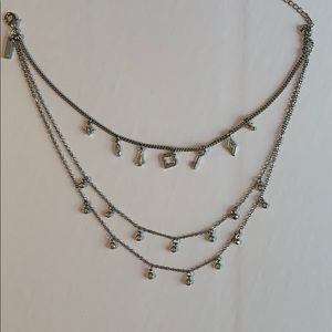 WHBM Layered Silver Necklace